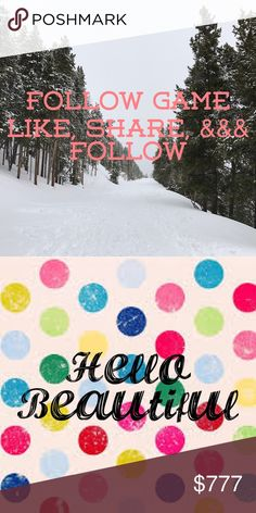 🌷🌺🌹🌸Follow Game🌷🌺🌹🌸 Let's Help Each Other Grow!!!  NEW FOLLOW GAME :)  It only takes 3 steps: 1) Like this post to join the game. 2) Share it to spread with your followers.  3) Follow everyone who likes this post.   Tag your PFFs to spread the word :)  HAPPY POSHING!!! Other