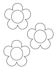 molde de flor pequena para imprimir - Pesquisa Google