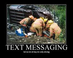 Please don't text message while driving...in fact, don't use your phone unless it's hands free.