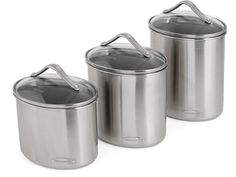 Calphalon 3-pc. Stainless Steel Canister Set: Oval: at Paula Deen Store