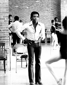 Arthur Mitchell teaching a class at his Dance Theater of Harlem, circa 1970s.    I studied on scholarship at DTH. It is amazing how much things stayed the same there.