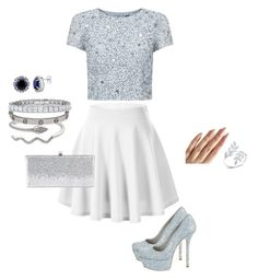 """""""Unbenannt #33"""" by sabrinaahz on Polyvore featuring Mode, Adrianna Papell, Cartier, BERRICLE, Alice + Olivia und Jimmy Choo"""