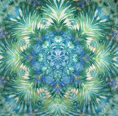 Giant tie dye tapestry mandala wall hanging turquoise blue
