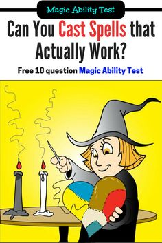 Find out if you can cast spells that actually work: http://www.simplemysticmiracles.com/magick-test/gender.php?utm_source=pinterest_desk_f&utm_medium=cpc&utm_campaign=Magick-Test&utm_term=wicca-spells_1&utm_content=ability-test-cartoon - Take my Free Magick Ability Test. 2 minutes, 10 questions, tons of fun. :)