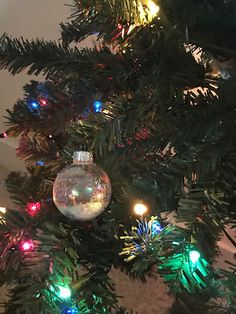Today we are creating a fun ornament using the glass crystals/ornament you find in your local craft stores... If you have some glass ornaments left out from last year or something you bought and do not know what to do with, try this fun, simple tutorial to create some very beautiful ornaments for your Christmas Tree.. It looks like a beautiful snow globe that you can hang on your Christmas tree.