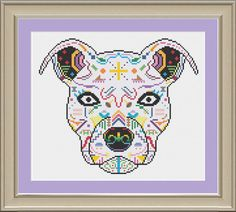 This fun cat dog skull pattern will add a splash of color to your home. :) This listing is for a pattern only --- not a completed project Dimensions (18-count aida): 5.9 x 5.6 inches Thread requirement: 25 DMC colors Following receipt of payment, a PDF of the cross-stitch pattern in black and white will be available for instant download. A representative image will also be provided. © 2016. All of my patterns are copyrighted and resale of my electronic patterns is prohibited.