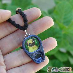 Collar Necklace Choker Pug Dogs reciclado recycled Frienship Macramé de ECOCREA en Etsy