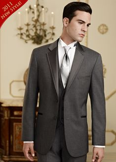 Dark Charcoal Tuxedo - Jean Yves Grey 'Twilight'