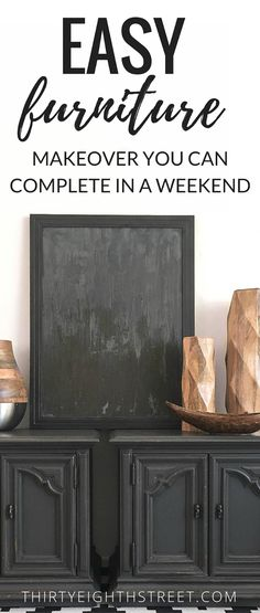 Easy Furniture Makeovers You Can Do In A Weekend! Fantastic DIY Furniture Tutorials. Chalk Painted Furniture. Refinished Furniture Ideas. Furniture Makeover Ideas. Painted Furniture Ideas. #paintedfurniture #paintefurnitureideas #furnituremakeover #diyfurniture #furnitureprojects #furnitureideas