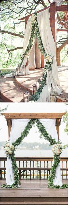 Greenery eucalyptus wedding arches #green #wedding #weddingideas #dpf #deerpearlflowers #weddingcolors #wedding #greenwedding #greenery #weddingtrends