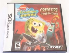 SpongeBob SquarePants: Creature from the Krusty Krab (Nintendo DS, for sale online Nintendo Dsi, Ds Games, Spongebob Squarepants, Gta, Things To Buy, Playstation, Videogames, Creatures, Spongebob