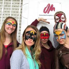 We love this fun photo from OM Spain showing the face painting they've been practicing to use for outreaches. OMers, assemble!