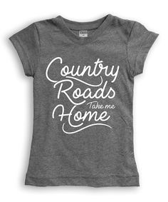 Heather Gray 'Country Roads' Fitted Tee - Toddler & Girls