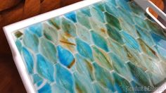 Updating an old tray with a mosaic and epoxy! {Sawdust and Embryos}