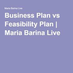 Business Plan vs Feasibility Plan | Maria Barina Live http://mariabarinalive.com/business-plan-vs-feasibility-plan/