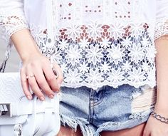 12 Cool Ways To Style Your Denim Shorts via @WhoWhatWear