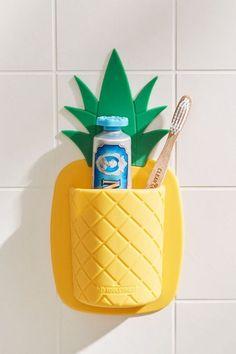 Tooletries Pineapple Toothbrush Holder - my new room - School Outfits Highschool Coastal Bedrooms, 3d Home, Teen Girl Bedrooms, My New Room, Toothbrush Holder, Cleaning Wipes, Sliders, Sweet Home, Bedroom Decor