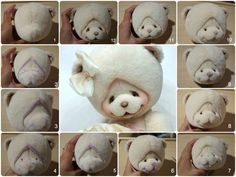 Teddy Bears microns haircut muzzle: 18 thousand images found in Yandeks. Needle Felted Animals, Felt Animals, Teddy Toys, Fabric Toys, Bear Doll, Sewing Dolls, Soft Dolls, Stuffed Animal Patterns, Diy Doll