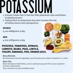 "Potassium rich foods ❥➥❥ potatoes, tomatoes, spinach, carrots, beans, peas, lentils, bananas...   How many of these 11 foods do YOU like?  ♥Like✔""Share""✔Tag✔Comment✔Repost✔God Bless♥   ℒℴѵℯ / Thanks ➸ EMAS HERBS  Share.Like.Comment.Tag.EMPOWERment ♡ ♥ ♡ pinned with Pinvolve - pinvolve.co"