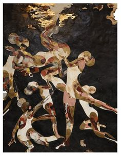 Nigerian artist Modupeola Fadugba is a rising talent with her fantastical swimmer artworks that will be featured in a fall solo exhibition with Gallery 1957 Burnt Paper, Pink Lake, Gold Water, Cultural Identity, African Artists, Pink Blossom, Triptych, Surface Pattern, Art World