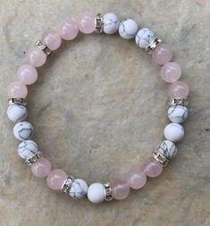 Diy Beaded Bracelets, Gemstone Bracelets, Handmade Bracelets, Colorful Bracelets, Embroidery Bracelets, Healing Bracelets, Gemstone Beads, Rose Quartz Bracelet, Diy Rose Quartz Jewelry