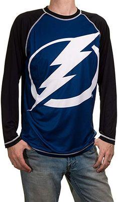 f71316f1f NHL Mens Performance Long-Sleeve Rash Guard (Tampa Bay Lightning