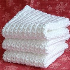 Directions for Crocheting Dishcloths - basic single crochet stitch throughout. Great for a beginner.