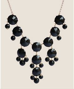 Handmade Bubble Necklace - Bib Necklace- Statement Necklace--Black