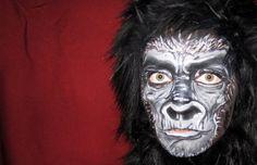 Gorilla Makeup http://chrystalr.wordpress.com/tag/face-paint/