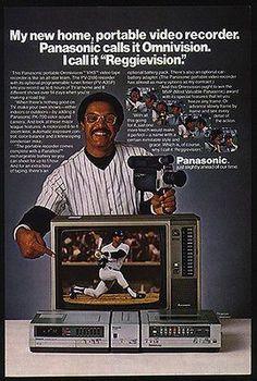BASEBALL Reggie Jackson Promo 1981 AD Panasonic