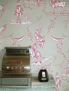 A4 (21CM x 29CM/ 8IN x 11IN) sized wallpaper sample of our 'Wild West Toile' design. All samples come with a sticker on reverse indicating ...