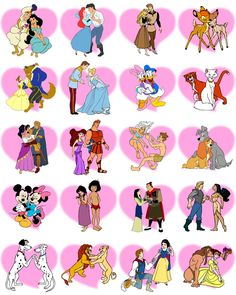 Fan Art of Classic Disney Couples for fans of Classic Disney. Disney Pixar, Disney And Dreamworks, Disney Cartoons, Disney Characters, Disney Kunst, Arte Disney, Disney Fan Art, Disney Couples, Disney Girls