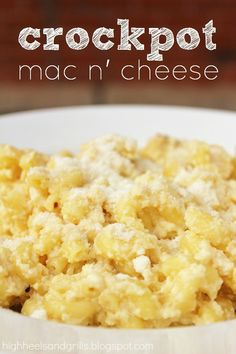 Mac N' Cheese Crockpot Mac N' Cheese Dusted with Parmesan Cheese _ Is there anything more homey than macaroni and cheese?Crockpot Mac N' Cheese Dusted with Parmesan Cheese _ Is there anything more homey than macaroni and cheese? Slow Cooker Recipes, Crockpot Recipes, Cooking Recipes, Crockpot Mac And Cheese, Mac Cheese, Cheese Food, Macaroni Cheese, Sin Gluten, Great Recipes