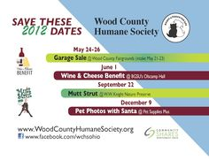 Come join us and show your support at these upcoming fundraisers! It's events like these that help us provide care for our animals all year long!