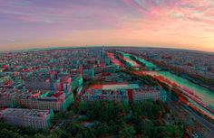 3D of West side of Paris from the Tour Eiffel