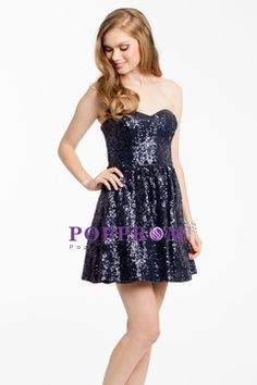 Homecoming Dresses A Line Sweetheart Sleeveless Short/Mini Sequin US$ 159.99…