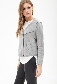 Micro-Patterned Hooded Jacket   FOREVER21 - 2000119374
