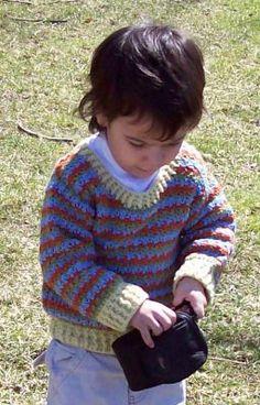 Joseph Child's Pullover Sweater Jumper   CrochetKim.com Free Crochet Pattern
