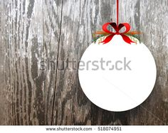 #Stock #photo: #blank #round #frame #red #ribbon on #brown #wood #background #Xmas #Christmas #shutterstock