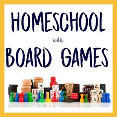 Homeschool with board games! Over 150 to choose from, organized by subject.