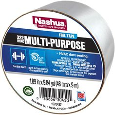 Nashua Trusted Tapes get the job done right, the first time, every time. Nashua 322 multi-purpose plain foil tape is specially designed for taping joints and seams against moisture and vapor on foil jacket insulation. Insulation Materials, Duct Tape, Purpose, Fan, Metal, Things To Sell, Ebay 1, Honda Civic, Jacket