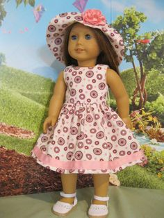 """""""Walking In The Park"""" for Grace, Kit, Molly, Etc. 18"""" American Girl Doll Clothes #Handmade #DollClothes"""