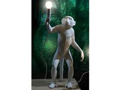 Shop for Seletti - Monkey Lamp - Hanging at Panik Design. A licensed Seletti retailer, the UK's largest independent stockist of design. Animal Original, Stand Up, Floor Lamp, Monkey, Garden Sculpture, Statue, Design, Lighting, Primate