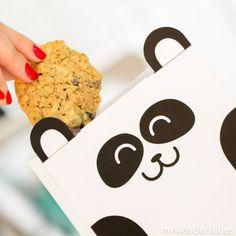 Bolsita con forma de oso panda - 6 ud.