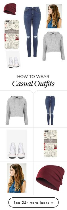 """""""casual and comfy"""" by italiaxe on Polyvore featuring Topshop, Converse and Harro..."""