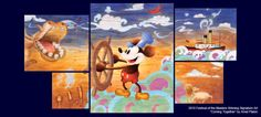Disney / Mickey Mouse / Steamboat Willie art. AWESOME!!