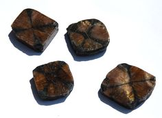 Andalousite ( Chiastolite ) Tranche polie 15 à 20 g