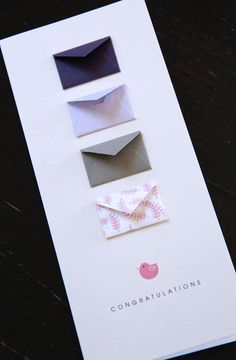 Congratulations Baby Girl - Tiny Envelopes Card with Custom Messages