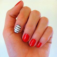 nautical pinup girl nails