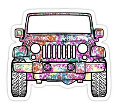 Floral Jeep Decal Stickers